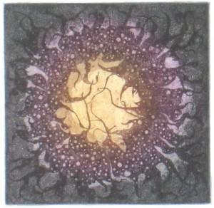 Zimní slunovrat / lept, 12 x 12,1998